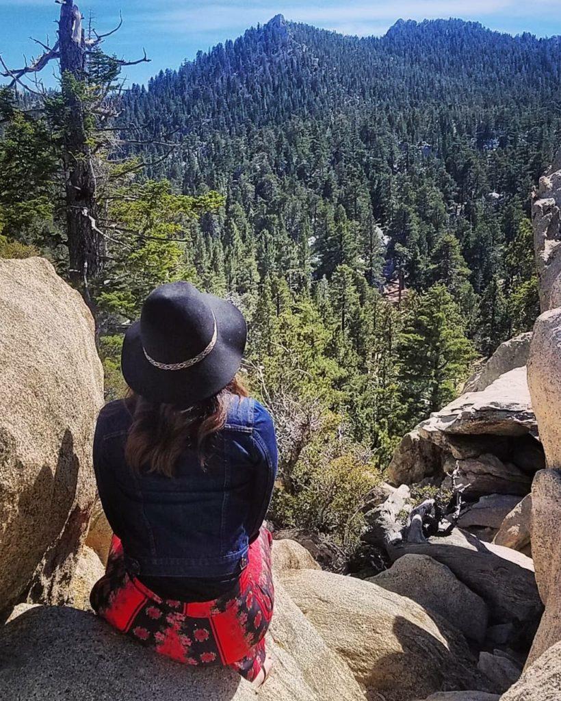 Admiring the views during a Palm Springs weekend getaway