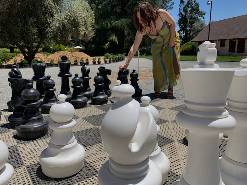 Playing Chess at the 15th Annual Lavender Festival