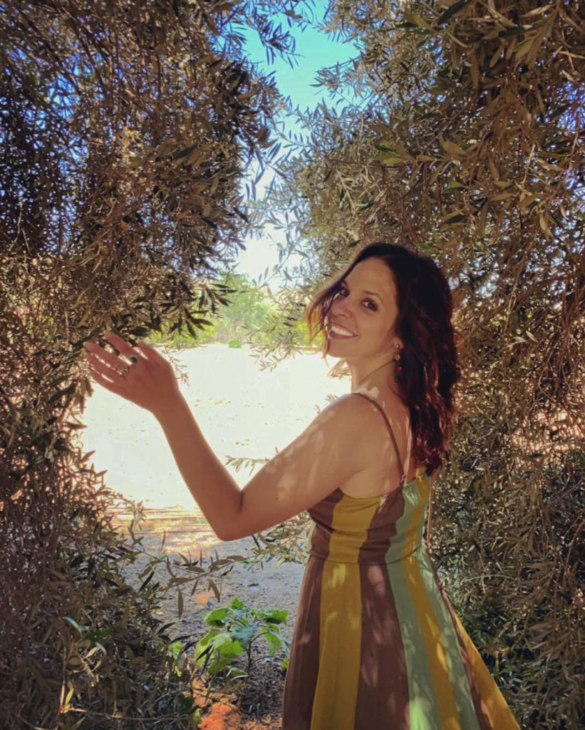 Strolling through the Olive Grove at the Lavender Festival
