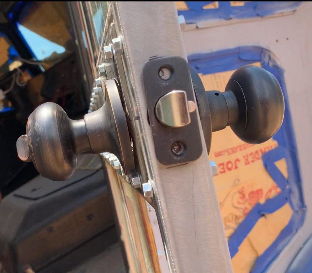 Bus Build Security Door Knob and Lock